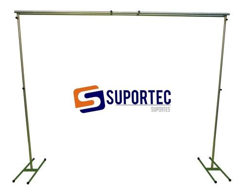 Estrutura Regulável Suporte Duplo P/ Banner Painel 2,5 X 3,0