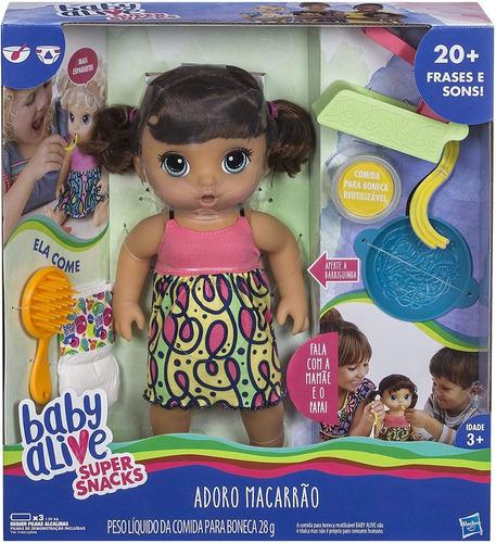 Boneca Baby Alive Adoro Macarrão Morena Nova Na Caixa Original