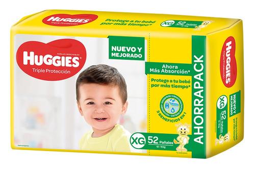 Pañales Huggies Triple Protección Ahorrapack  Xg 52u