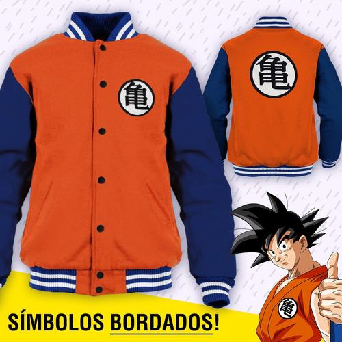 Jaqueta Dragon Ball Z Goku Moletom College Bordado Blusa