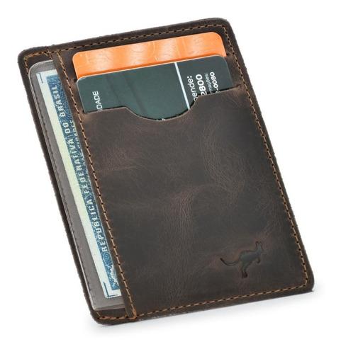 Carteira Porta Cartão Para Cnh,cédulas,cartões Couro Bovino