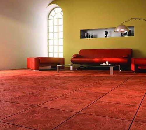 Ceramica 40x40 Cotto 1era Cortines Piso Rojo Colonial