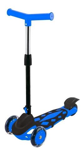 Patinete Infantil Ajustável Menino 40 Kg Power Azul