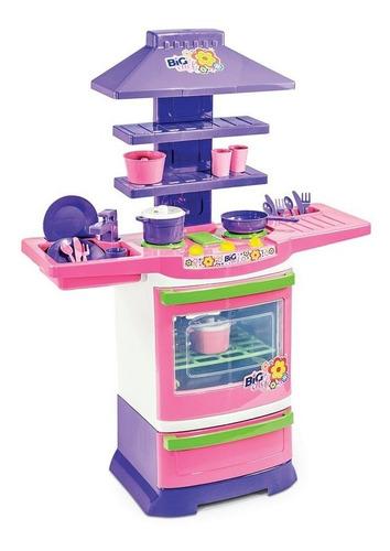 Cozinha Infantil Completa Menina Poliplac Big Chef