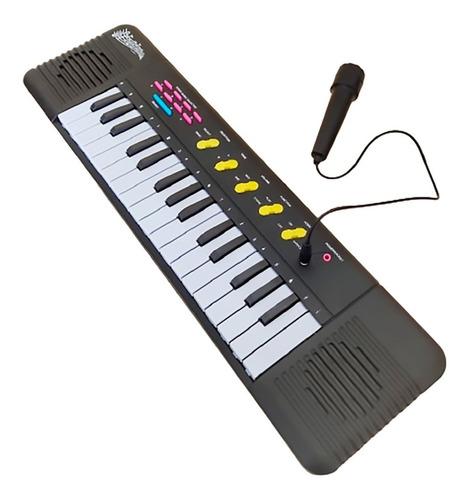 Teclado Piano Infantil C/ Microfone - Musical Educativo