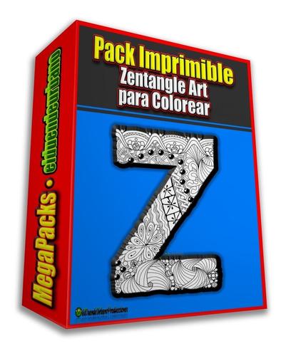 Pack Imprimible » 100 Zentangle P/ Colorear + Regalo Bonus