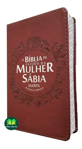 Bíblia De Estudo Da Mulher Sábia Rosa Letra Grande Harpa