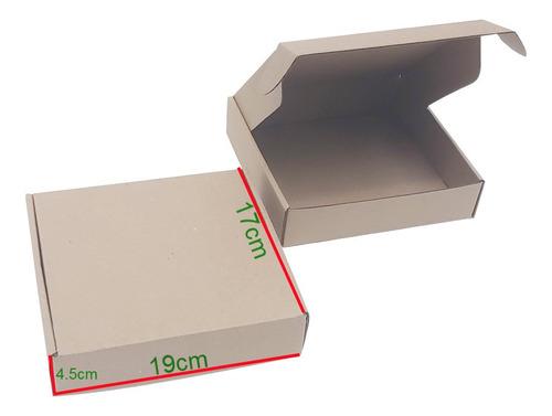 50 Cajas De Carton Microcorrugado De 19 X 17 X 4,5 Cm