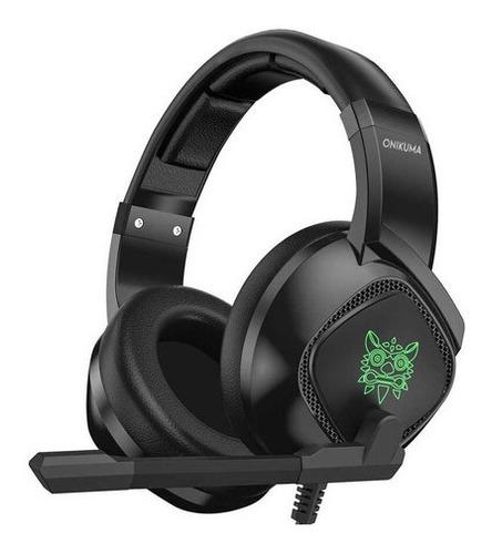 Onikuma K19 Black Gamer Headphones With Rgb Led Light - Ecart