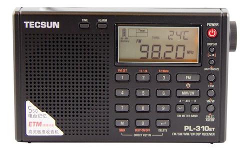 Rádio Tecsun Pl-310et Fm Stéreo Am Sw Lw Dsp Etm Importado