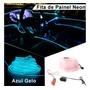Fita Led Neon Painel Carro 5 Metros Tunning Azul Gelo