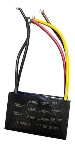 Capacitor Triple 4.5uf-5uf-6uf Para Ventilador De Lujo