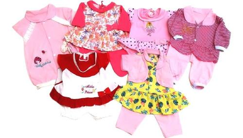 7 Roupas Bebê Ou Reborn 0a3m Menina+4 Faixas Tiaras Oferta