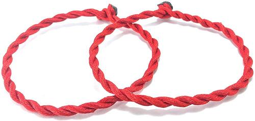 Indianstore4all - Pulsera De Cuerdas Rojas Para Protección D