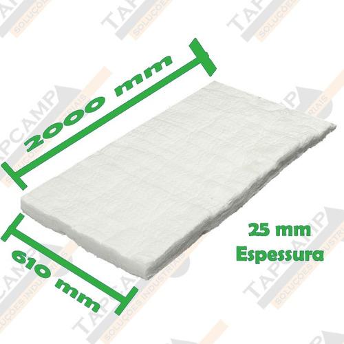 Manta Fibra Cerâmica Alta Temperatura 2000 X 610 X 25 Mm