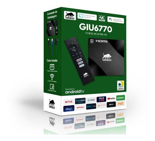 Conversor Tv Box Android 4k Ultra Hd 8gb 2gb Ram Netflix Nfe
