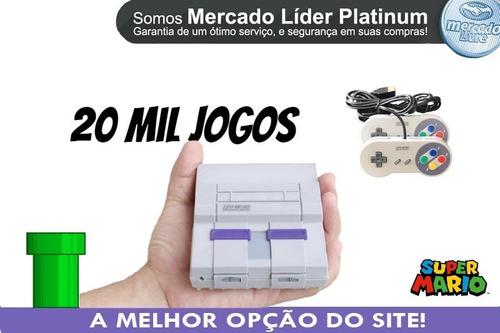Super Nintendo 2 Controles 20 Mil Jogos + Ps1+ N64+ Mega
