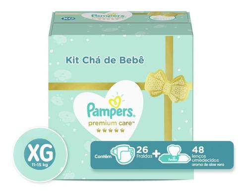 Kit Fralda Pampers Premium Care Xg 26un + Lenço A. Vera 48u