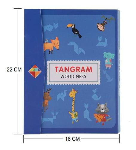 Tangram Magnético Rompecabezas Didáctico Educativo Libro