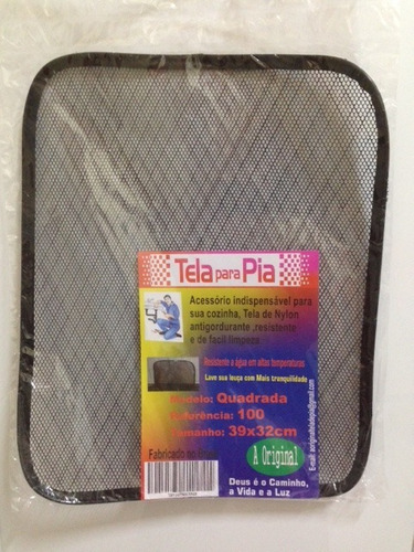 Kit C/10 Tela Proteção Pia Evita Entrada De Residuos No Ralo