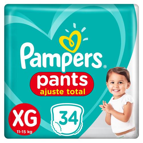 Pañales Pampers Pants Ajuste Total  Xg 34u