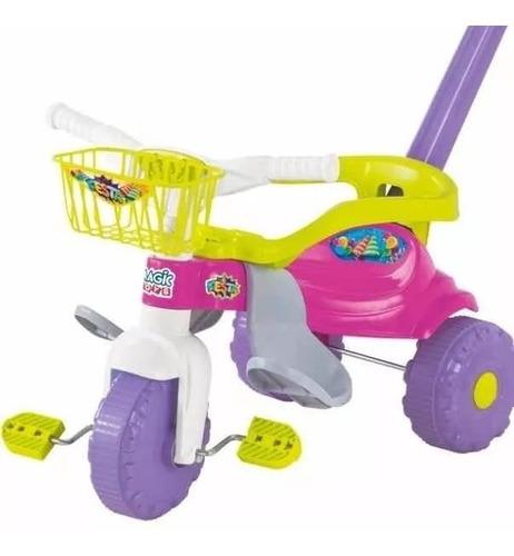 Motoca Triciclo Festa Bebê Cestinha