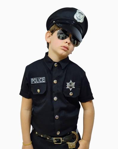 Fantasia Masculina Infantil Policial Completa