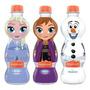 Garrafa Frozen Kit Com 3 Águas Anna Elsa Olaf Bonafont 330ml
