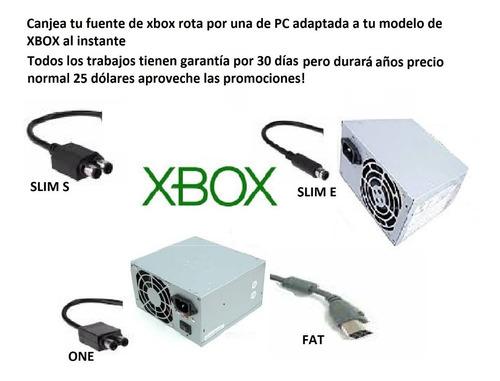 Oferta Canje Fuente Xbox 360   Slim Y Slim E 220v