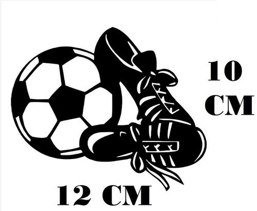 Adesivo Decalque Chuteiras Bola Futebol Com Frete Grátis