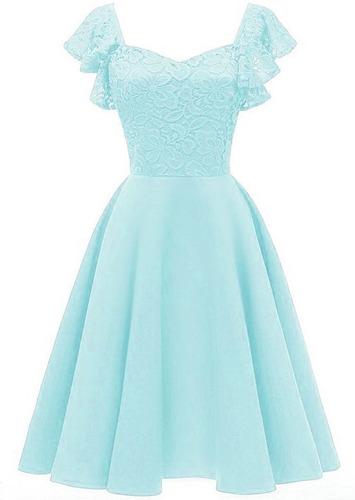 Vestido Feminino Midi Princesa, Acinturado T03