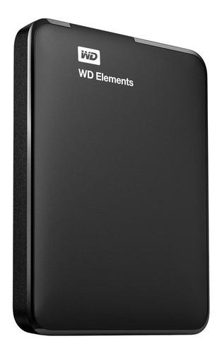 Disco Rígido Externo Western Digital Wd Elements Wdbuzg0010bbk 1tb Preto