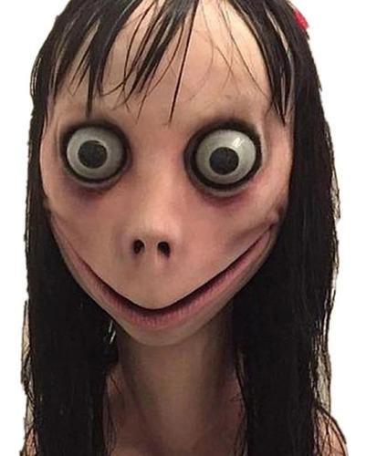Máscara Realista Momo Boneco Terror Halloween Festa Susto