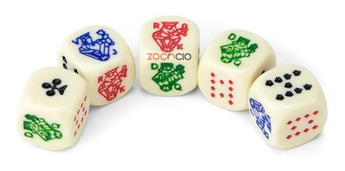 Conjunto Por 5 Dados De Poker Die Poker