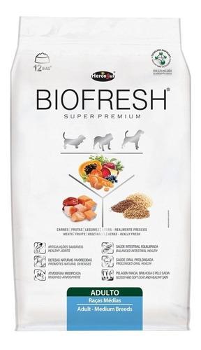 Alimento Biofresh Super Premium Para Perro Adulto De Raza Mediana Sabor Carne, Frutas Y Vegetales En Bolsa De 15kg