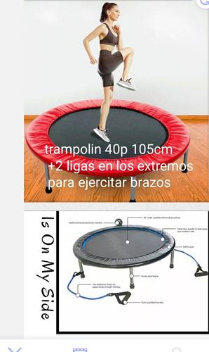 Trampolin O Saltarin Funcional 40 P Doble Resorte Acero Impo