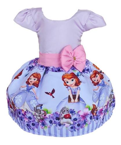 Vestido Tematico Princesa Sofia Infantil