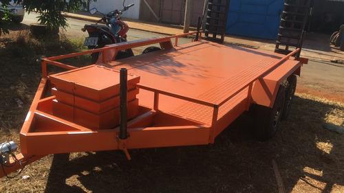 Carreta Transporte Maquinas Bobcat Case Yanmar Jcb