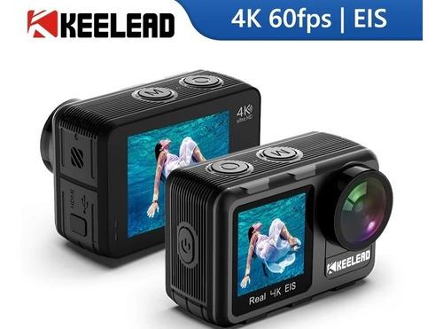 Câmera Ação Keelead K80, 4k 60fps, 20mp, Tela 1,4 ,lcd Dupla