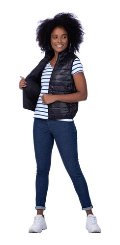 Colete Feminino Zíper Malwee Preto 100004247300004