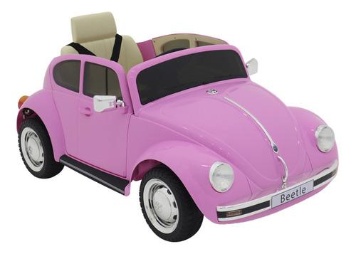 Mini Carrinho Elétrico Infantil Vw Beetle 12v Controle Usb