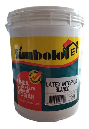 Pintura Latex Interior Blanco Simbolo Tex X 20 Lt / Camino 1