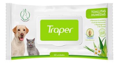 Toallitas Humedas Para Perro 60 Un Traper