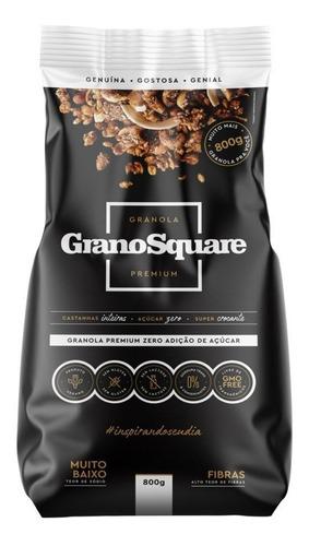 Kit 2 Un Granola Premium Zero Açúcar 800g Grano Square