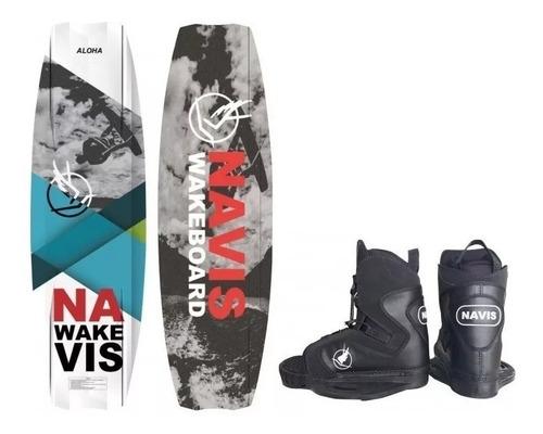 Wakeboard Navis Prancha Aloha + Par De Botas Wake Board Esqui Aquático