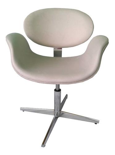 Cadeira Tulipa Gir. C/ Reg. Altura E Base 4 Pontas Aluminio.