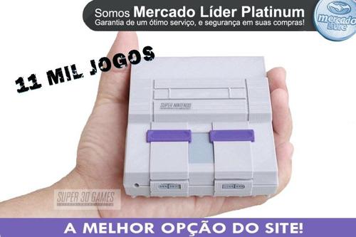Super Nintendo 11 Mil Jogos 2 Controles Envio Imediato!