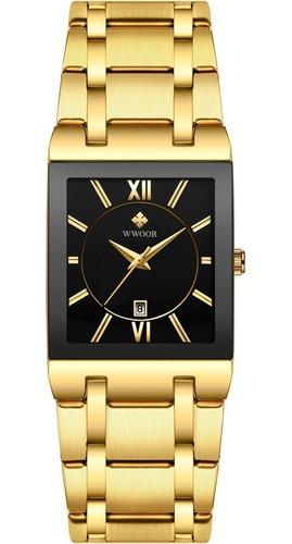 Wwoor Quartz Watch Relógio De Pulseira De Aço Inoxidável Lux
