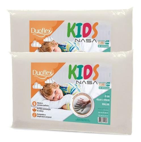 Kit Com 2 Travesseiros Nasa Kids Antialérgico - Duoflex