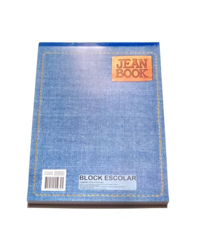 Block Jean Book Tamaño Carta 70 HojasCuadriculado